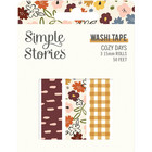 Simple Stories - Cozy Days, Washi Tape, 3 rullaa