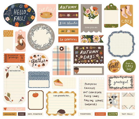 Simple Stories - Cozy Days Journal Bits & Pieces, 39 osaa