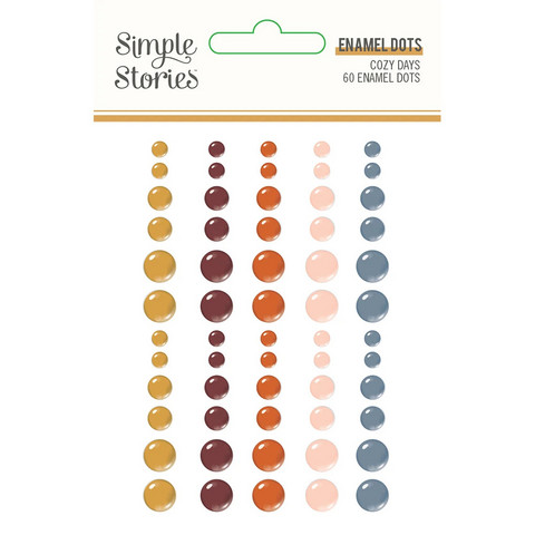 Simple Stories - Cozy Days Enamel Dots, 60 kpl