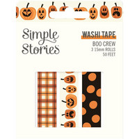 Simple Stories - Boo Crew, Washi Tape, 3 rullaa