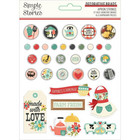 Simple Stories - Apron Strings, Decorative Brads, 33 osaa