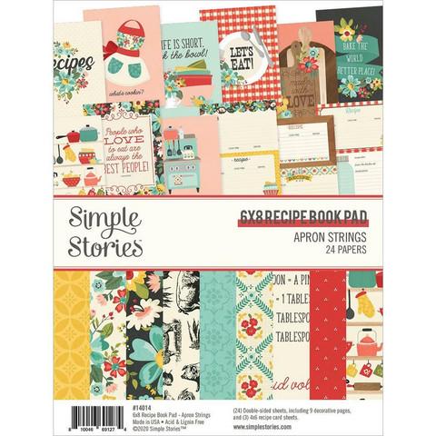 Simple Stories - Apron Strings Recipe Book, Paperikko 6''x8'', 24sivua