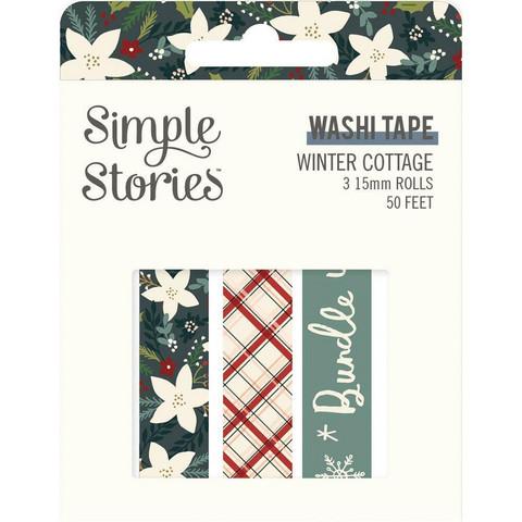 Simple Stories - Winter Cottage, Washi Tape, 3 rullaa