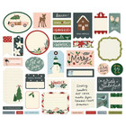 Simple Stories - Winter Cottage Journal Bits & Pieces, 39 osaa