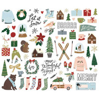 Simple Stories - Winter Cottage Bits & Pieces Die-Cuts, 71 osaa