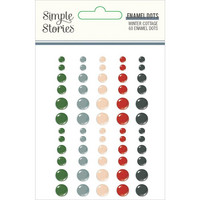 Simple Stories - Winter Cottage Enamel Dots, 60 kpl