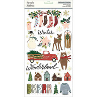 Simple Stories - Winter Cottage Chipboard Stickers 6