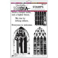 Dina Wakley Media - Cling Stamps, Everyone Is Welcome, Leimasetti