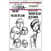 Dina Wakley Media - Cling Stamps, Better Together, Leimasetti