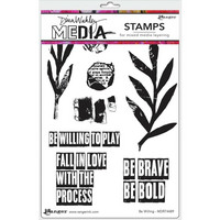 Dina Wakley Media - Cling Stamps, Be Willing, Leimasetti