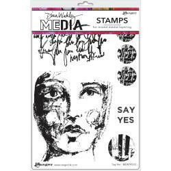 Dina Wakley Media - Cling Stamps, Say Yes, Leimasetti