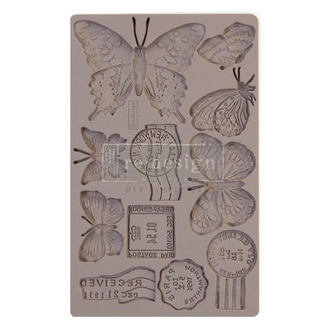 Prima Marketing - Decor Mould, Butterfly In Flight, Silikonimuotti