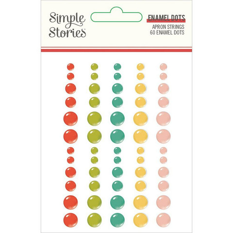 Simple Stories - Apron Strings Enamel Dots, 60 kpl