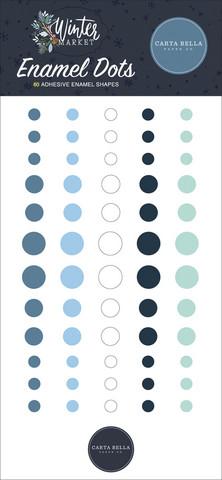 Carta Bella - Winter Market Enamel Dots, 60 kpl
