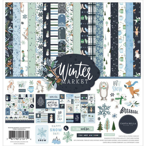 Carta Bella - Winter Market, Collection Kit 12