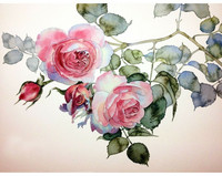 Collection D'Art - Rose Twig (K)(N), Timanttimaalaus, 38x27cm