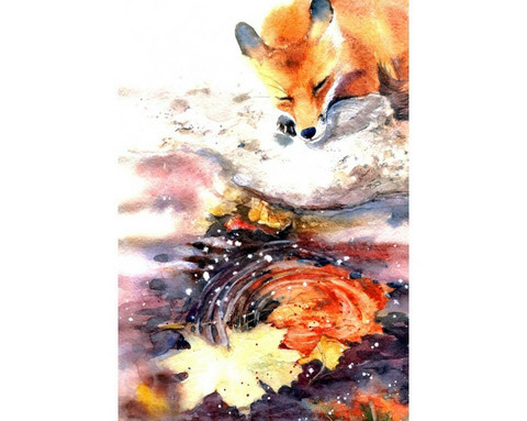 Collection D'Art - Foxy ( K)(N), Timanttimaalaus, 27x38cm