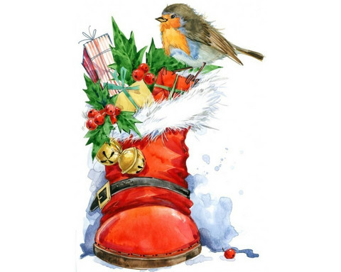 Collection D'Art - Christmas Bird (K)(N), Timanttimaalaus, 27x38cm