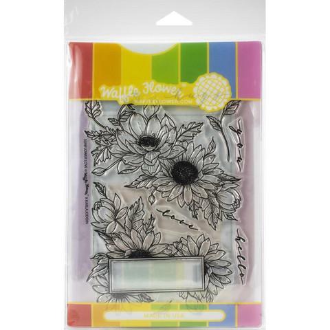 Waffle Flower - Sunflower Love, Leima- ja stanssisetti