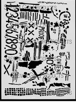 StencilGirl - Numbers Stencil, Sapluuna, 9