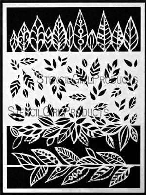 StencilGirl - Leafy Doodle Border, Sapluuna, 9