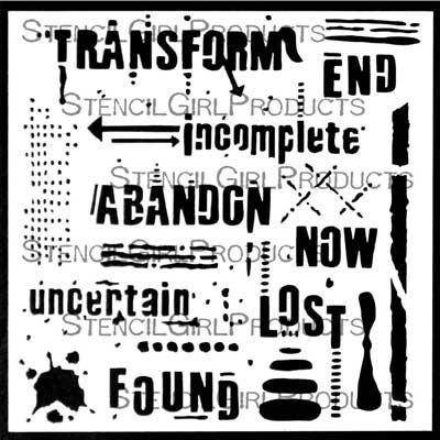 StencilGirl - Text and Texture Transform Stencil, Sapluuna, 6