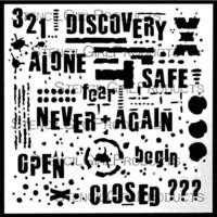 StencilGirl - Text and Texture Discovery Stencil, Sapluuna, 6