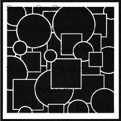 StencilGirl - Doodle It Layered Circles and Squares Stencil, Sapluuna, 6