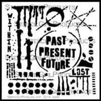 StencilGirl - Past Present Future Stencil, Sapluuna, 6