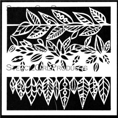 StencilGirl - Leafy Doodle Verge, Sapluuna, 6