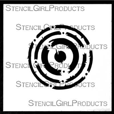 StencilGirl - Techno Insiders Circle Stencil, Sapluuna, 4