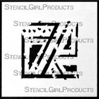 StencilGirl - Techno Insiders Square Stencil, Sapluuna, 4