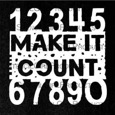StencilGirl - Make It Count Mini, Maski, 4