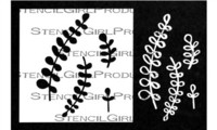 StencilGirl - Maidenhair Fern Stencil with Masks, Maski&Sapluuna, 4