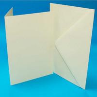 Craft UK - Korttipohja, kerma, A6, 50kpl, sis.kirjekuoret