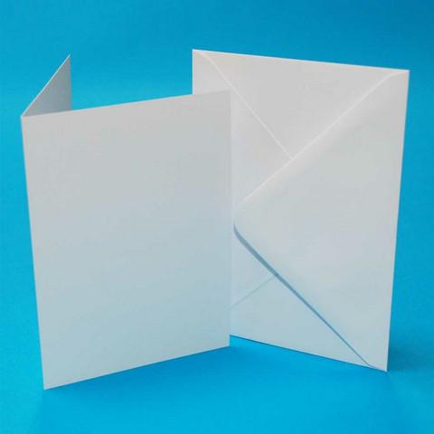Craft UK - Korttipohja, valkoinen, A6, 50kpl, sis.kirjekuoret