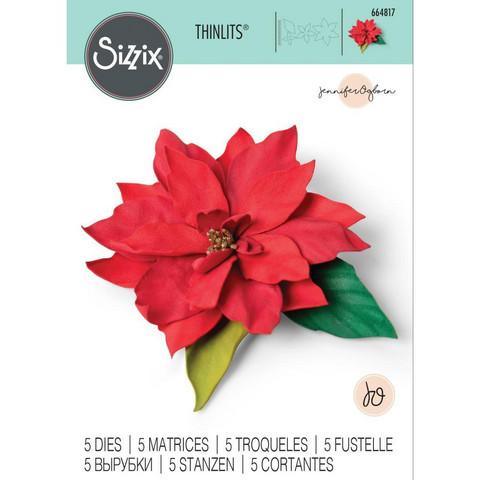 Sizzix - Thinlits Dies By Jennifer Ogborn, Stanssisetti, Elegant Poinsettia
