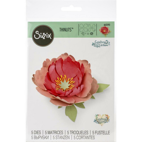 Sizzix -Thinlits Dies By Courtney Chilson, Stanssisetti, Peony