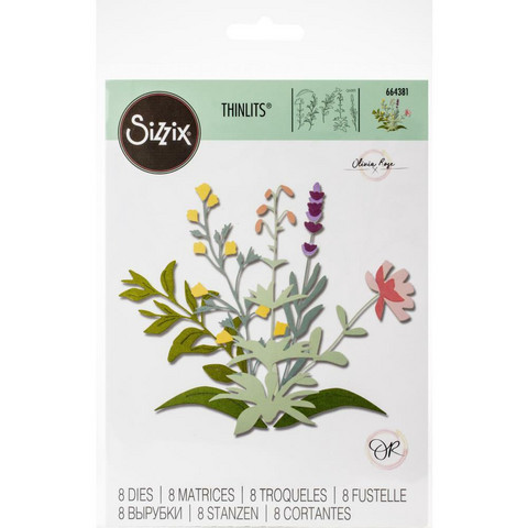Sizzix -Thinlits Dies By Olivia Rose, Stanssisetti, Spring Stems