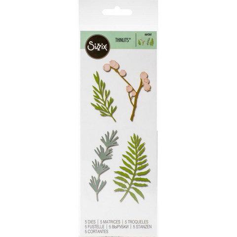 Sizzix -Thinlits Dies, Stanssisetti, Natural Leaves
