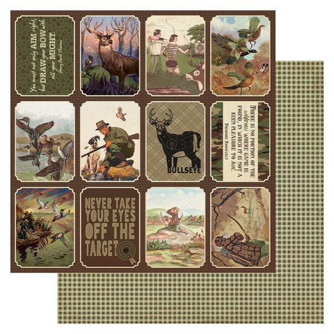 Authentique - Hunting Double-Sided Cardstock 12