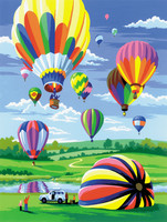 Royal&Langnickel - Paint By Numbers Kit, Hot Air Balloons
