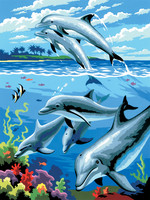 Royal&Langnickel - Paint By Numbers Kit, Dolphins