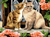 Royal&Langnickel - Paint By Numbers Kit, Kissing Kittens