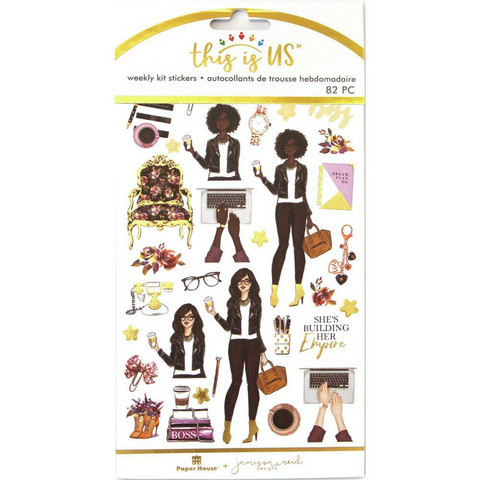 Paper House - This Is Us Weekly Planner Sticker Kit, Girl Boss, Tarrasetti