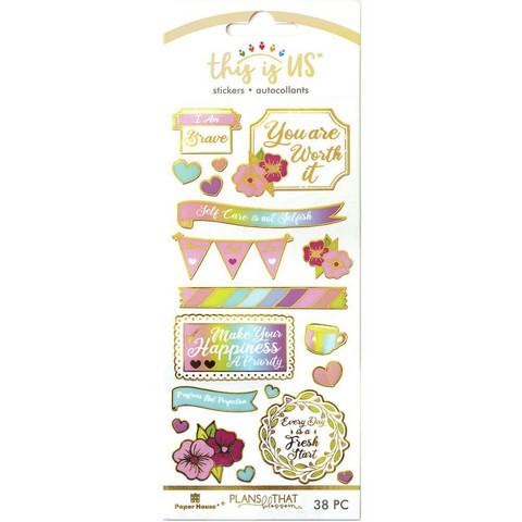 Paper House - This Is Us Stickers, Pastel Self Care, Tarrasetti