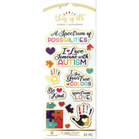 Paper House - This Is Us Stickers, Autism, Tarrasetti