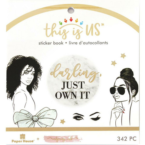 Paper House - This Is Us Mini Sticker Book, Glamorous Girls, Tarrasetti