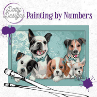 Dotty Design - Paint By Numbers 40x50cm, Dogs