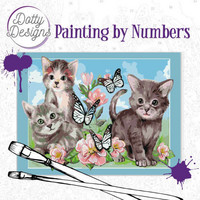 Dotty Design - Paint By Numbers 40x50cm, Cats